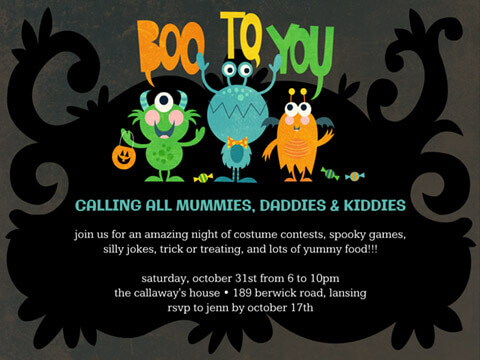 Halloween Invite Boo to you