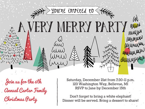 Christmas Invite A Very Merry Party