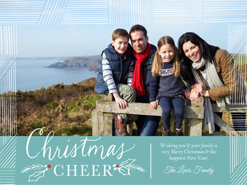 Christmas Greeting HollyBerry Cheer