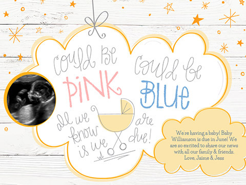 Pink or Blue  -  Smilebox Pregnancy Announcement