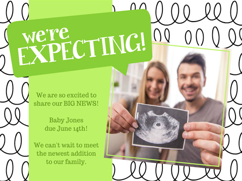 We're Expecting  -  Smilebox Pregnancy Announcement