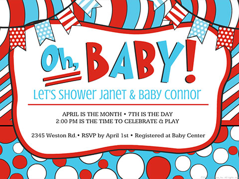 Oh Baby Shower!  -  Smilebox Baby Shower  Invitation