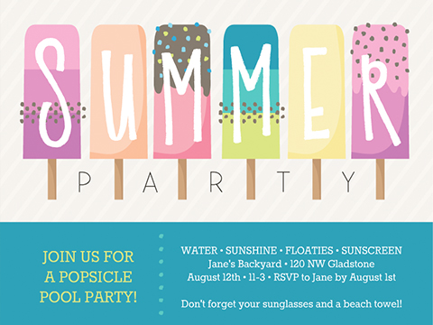 Popsicle Party  -  Smilebox Summer Invitation