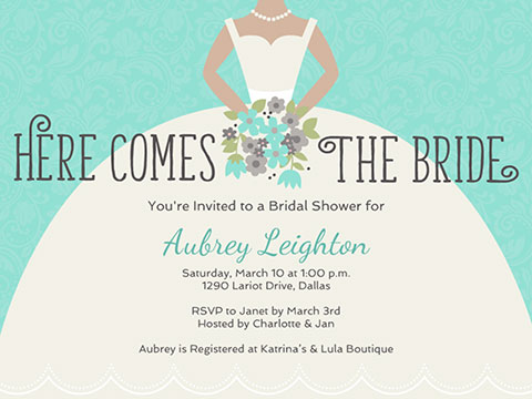 Bridal Shower invite-Bridal Gown