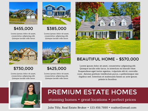 Real Estate flyer - Multiple Property Listings
