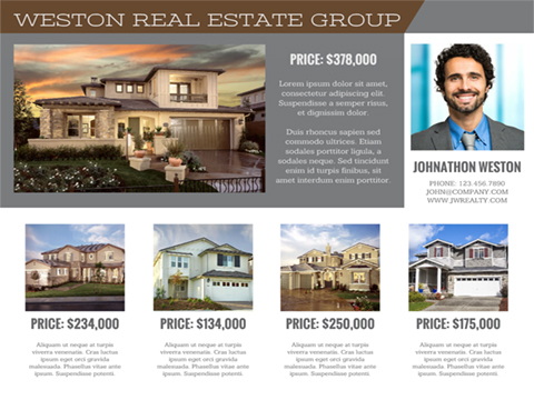 Real Estate flyer - Property Listings
