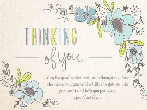 anytime, thinking of you greeting - Thoughtful Wishes