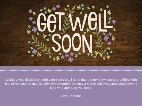 anytime, thinking of you greeting - Get Well Flowers