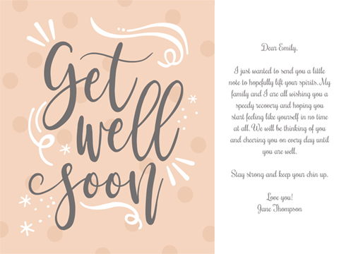 anytime, thinking of you greeting - Uplifting Get Well