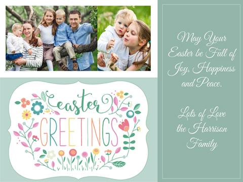Easter greeting - Garden of Easter Greetings