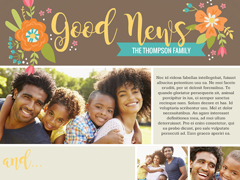 Good News with Flowers  -  Smilebox Anytime Newsletter