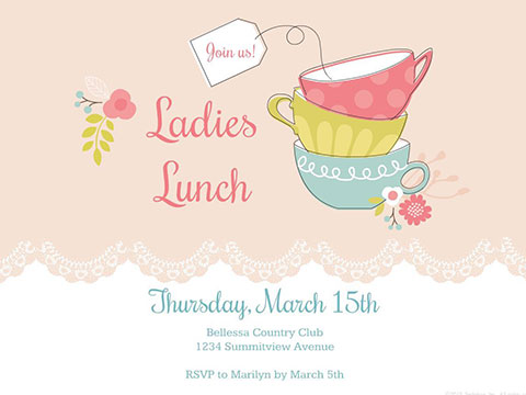 ladies lunch invite smilebox